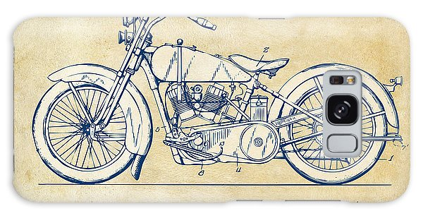 Vintage Harley-davidson Motorcycle 1928 Patent Artwork Galaxy Case