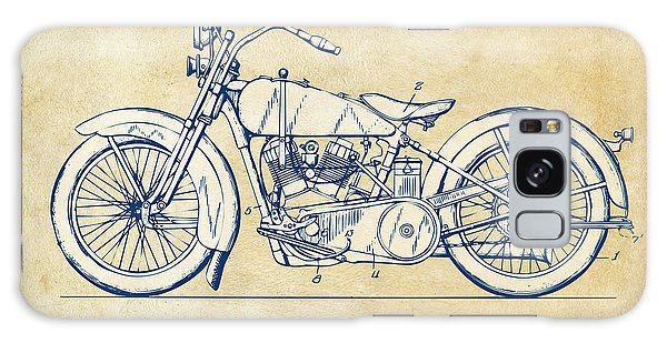 Vintage Harley-davidson Motorcycle 1928 Patent Artwork Galaxy Case by Nikki Smith