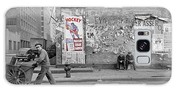 Vintage Hockey Poster Galaxy Case