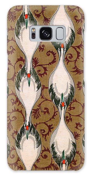 Vintage Japanese Illustration Of Cranes Flying Galaxy S8 Case