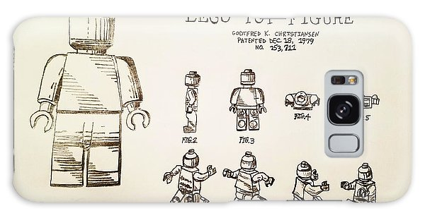 Vintage Lego Toy Figure Patent - Graphite Pencil Sketch Galaxy Case