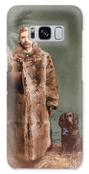 Vintage Man And Spaniel Dog Galaxy Case by Lyric Lucas