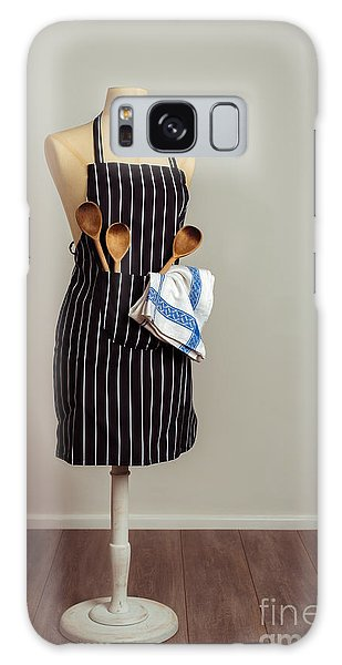 Dress Form Galaxy Case - Vintage Mannequin With Kitchen Utensils by Amanda Elwell