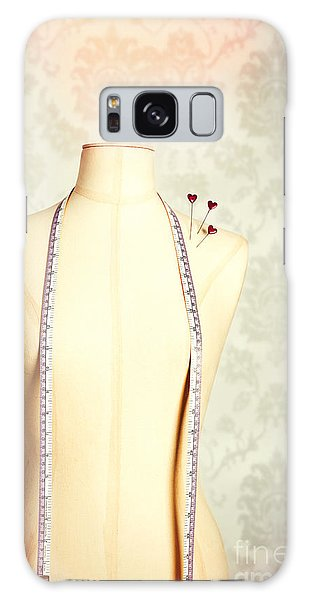 Dress Form Galaxy Case - Vintage Mannequin With Tape Measure by Amanda Elwell