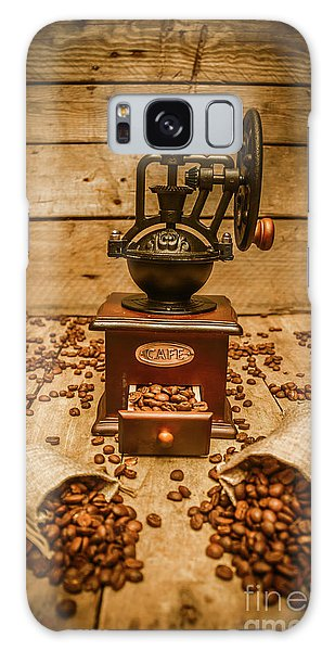 Cafe Galaxy Case - Vintage Manual Grinder And Coffee Beans by Jorgo Photography - Wall Art Gallery
