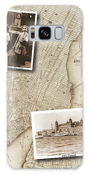 Vintage Map Ellis Island Immigrants Galaxy Case