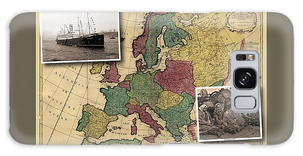 Vintage Map Europe Immigrants Galaxy Case