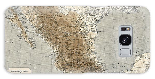 Mexican Galaxy Case - Vintage Map Of Mexico - 1911 - National Geographic by Blue Monocle