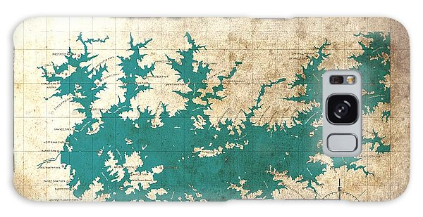 Vintage Map - Sidney Lanier Ga Galaxy Case