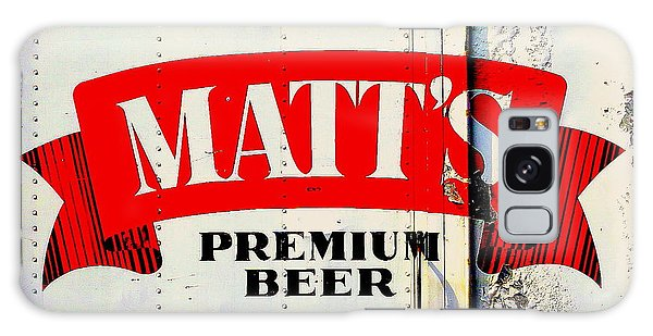 Vintage Matt's Premium Beer Sign Galaxy Case