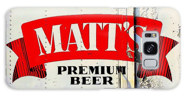 Vintage Matt's Premium Beer Sign Galaxy Case by Peter Gumaer Ogden