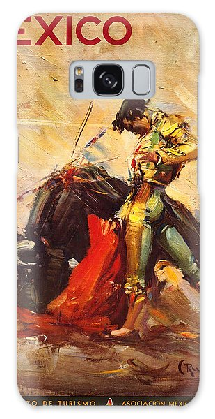 Vintage Mexico Bullfight Travel Poster Galaxy Case