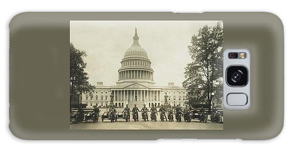 Vintage Motorcycle Police - Washington Dc  Galaxy Case