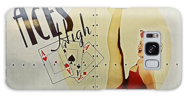 Ww2 Galaxy Case - Vintage Nose Art Aces High by Cinema Photography