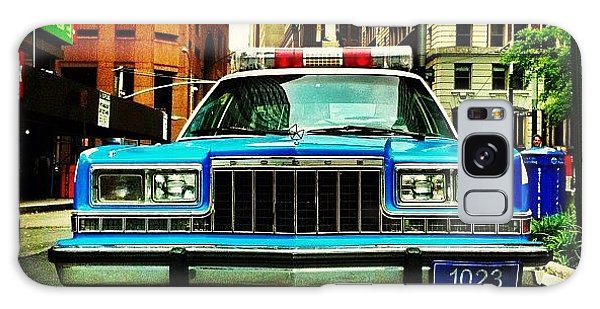Transportation Galaxy Case - Vintage Nypd. #car #nypd #nyc by Luke Kingma