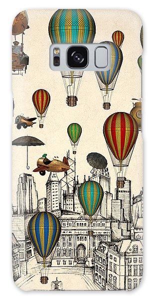 Hot Air Balloons Galaxy Case - Vintage Old City by Mark Ashkenazi