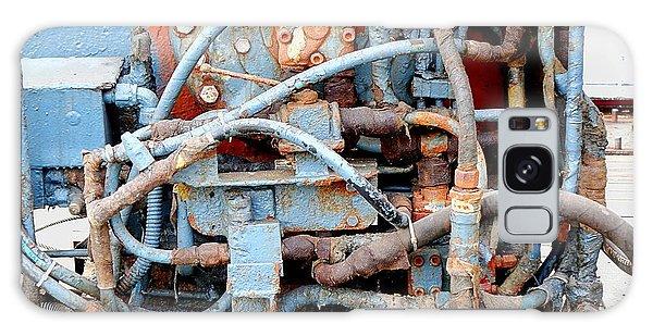 Vintage Old Diesel Engine On A Ship Galaxy Case by Yali Shi
