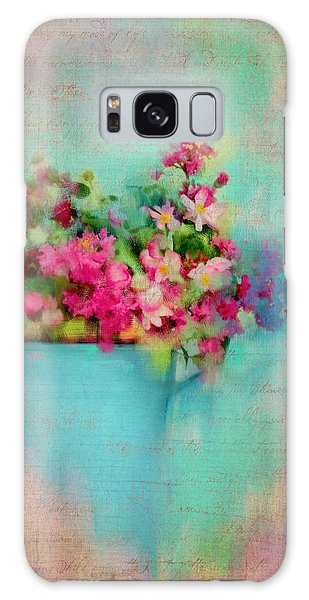 Flowers From A Cottage Garden Galaxy Case