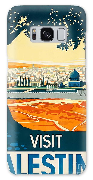 Vintage Palestine Travel Poster Galaxy Case