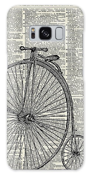 Bike Galaxy Case - Vintage Penny Farthing Bicycle by Anna W