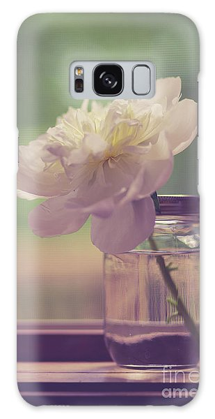 Galaxy Case featuring the photograph Vintage Peony Flower Still Life by Edward Fielding
