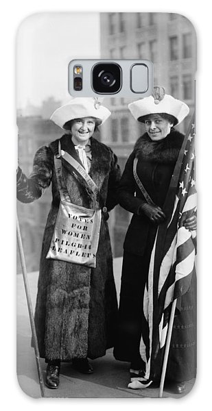 Vintage Photo Suffragettes Galaxy Case