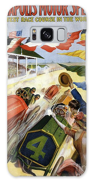 Hundred Galaxy Case - Vintage Poster Advertising The Indianapolis Motor Speedway by American School