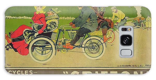 Vintage Poster Bicycle Advertisement Galaxy Case