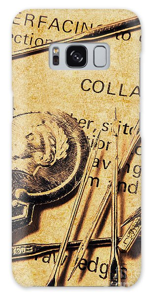 Made Galaxy Case - Vintage Quick Stitch by Jorgo Photography - Wall Art Gallery