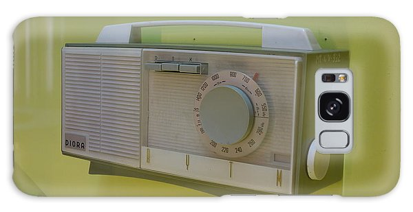 Vintage Radio With Lime Green Background Galaxy Case