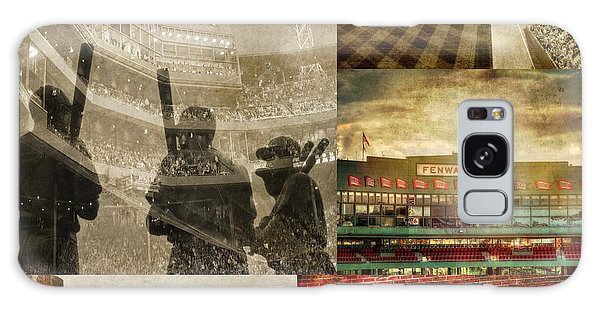 Vintage Red Sox Fenway Park Baseball Collage Galaxy Case
