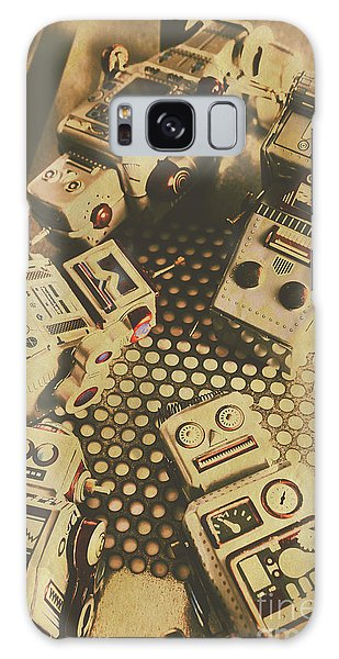 Comical Galaxy Case - Vintage Robot Charging Zone by Jorgo Photography - Wall Art Gallery