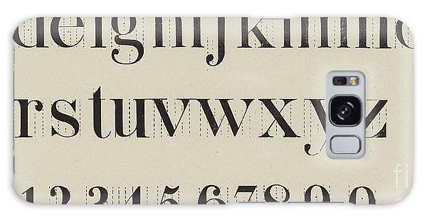 Decorative Galaxy Case - Vintage Roman Analytical Font by English School