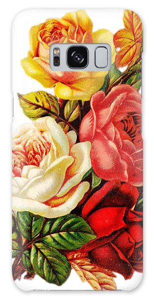 Galaxy Case featuring the digital art Vintage Rose I by Kim Kent