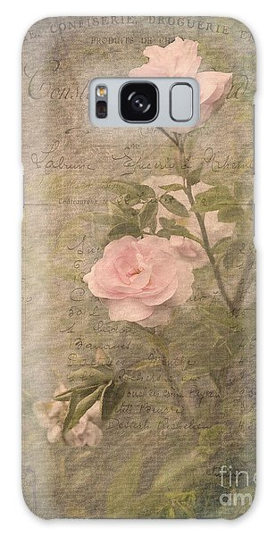 Vintage Rose Poster Galaxy Case by Liz  Alderdice
