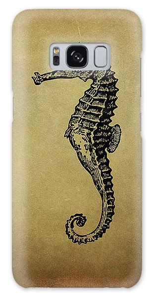 Vintage Seahorse Illustration Galaxy Case by Peggy Collins