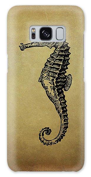 Vintage Seahorse Illustration Galaxy Case