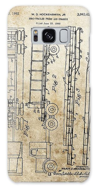 Old Truck Galaxy Case - Vintage Semi Trailer Truck Patent by Dan Sproul