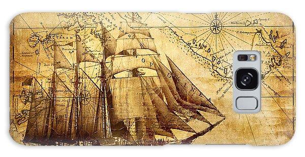 Vintage Ship Map Galaxy Case