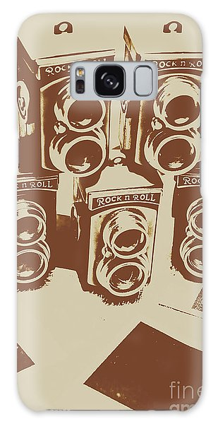 Vintage Camera Galaxy Case - Vintage Snapshots And Old Cameras by Jorgo Photography - Wall Art Gallery