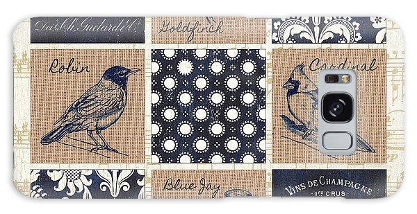 Cardinal Galaxy Case - Vintage Songbirds Patch by Debbie DeWitt