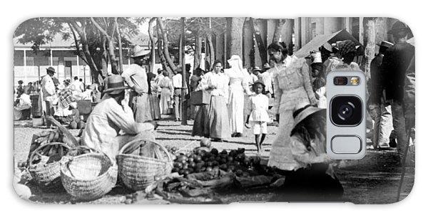 Vintage Street Scene In Ponce - Puerto Rico - C 1899 Galaxy Case