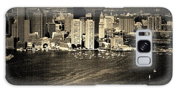 Vintage Style Boston Skyline Galaxy Case