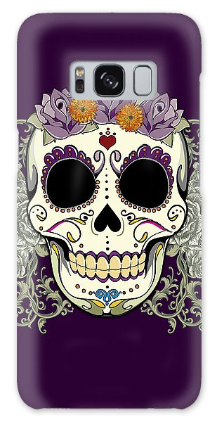 Vintage Sugar Skull And Flowers Galaxy Case