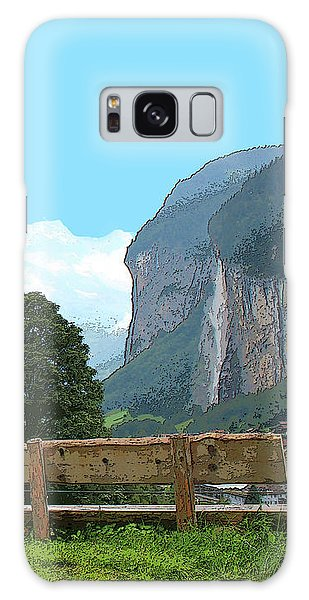 Vintage Switzerland Alps And Waterfall Galaxy Case