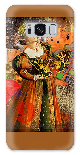 Vintage Taurus Gothic Whimsical Collage Woman Fantasy Galaxy Case