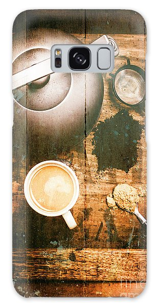 Cafe Galaxy Case - Vintage Tea Crate Cafe Art by Jorgo Photography - Wall Art Gallery