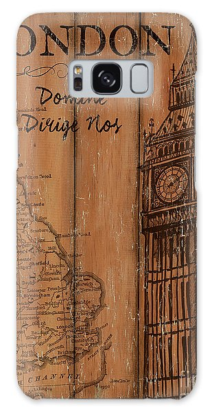 Clock Galaxy Case - Vintage Travel London by Debbie DeWitt