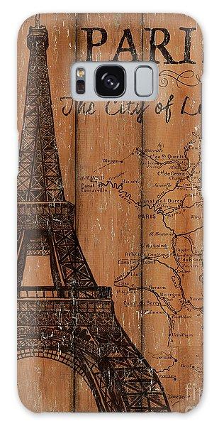 Galaxy Case - Vintage Travel Paris by Debbie DeWitt