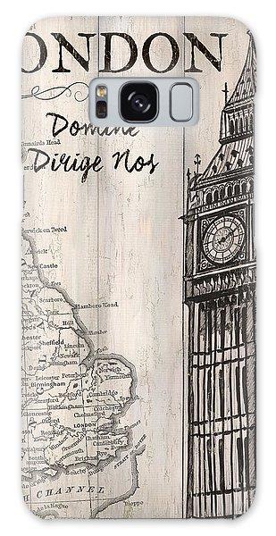 Clock Galaxy Case - Vintage Travel Poster London by Debbie DeWitt